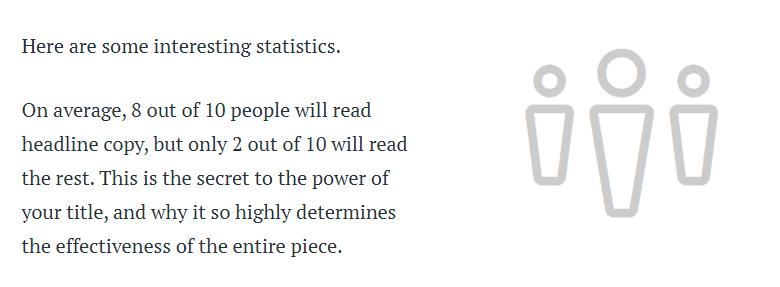 Laut Copyblogger lesen 8 von 10 Menschen nur die Headline.