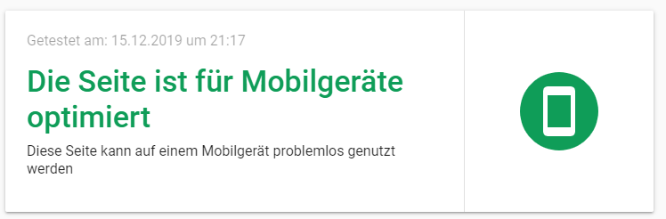 Bei Google kannst du deine Webseite auf Mobilfreundlichkeit testen.