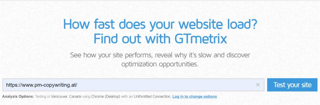 zu langsame wordpress seite mit gtmetrix messen
