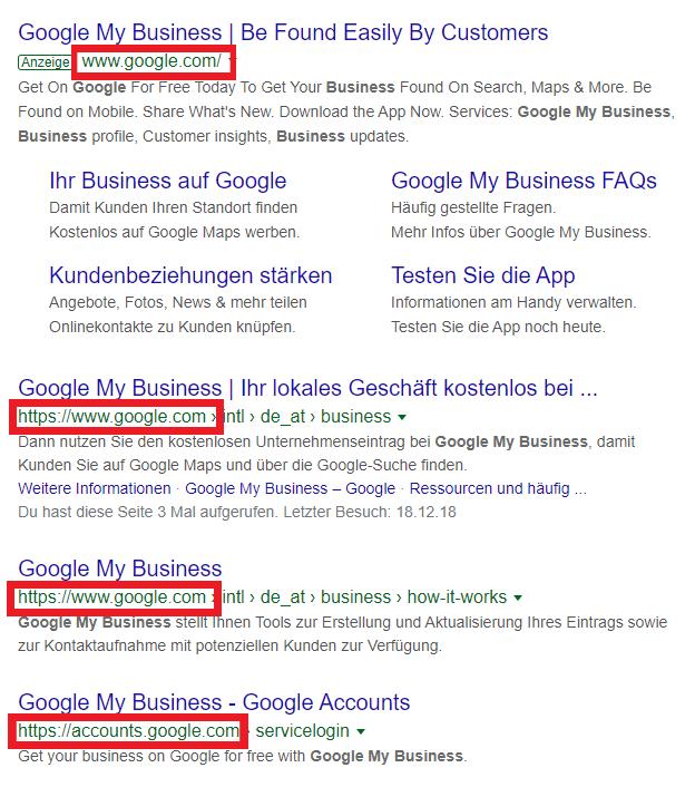 Für Suchergebnisse für den Begriff Google My Business login, dauert seo länger.