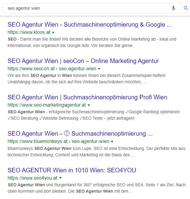 Suchergebnisse zum Begriff SEO Agentur Wien