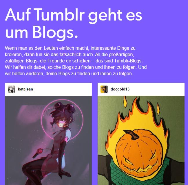 Tumblr eignet sich nur teilweise für professionelles Social Media Marketing.