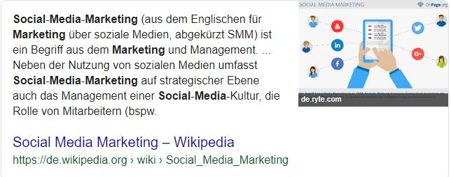So definiert Wikipedia den Begriff Social Media Marketing.