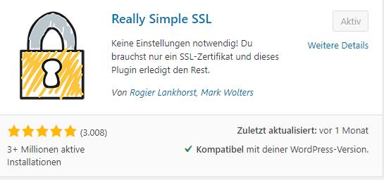WordPress bietet Plugins um einfach SSL-Zertifikate zu installieren.