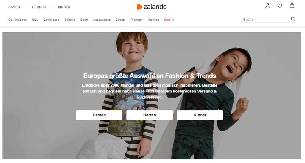 Zalando zeigt wie online Händler SEO umsetzen