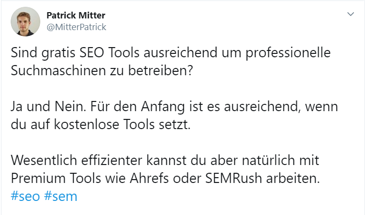 Tweet als Marketingmaßnahme