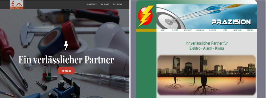 vergleich alte und neue website
