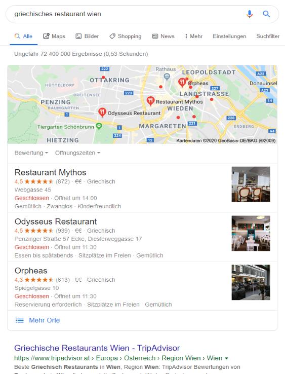 Suchergebnisse für griechisches restaurant wien
