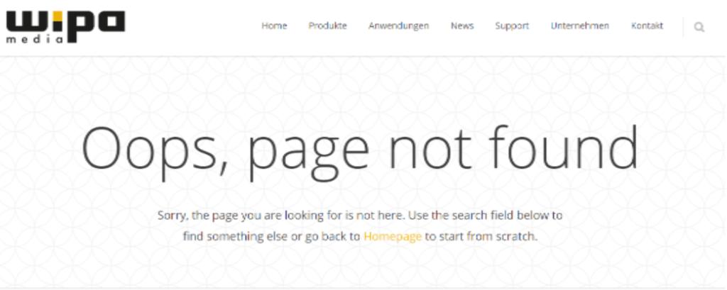 404 error beim seo audit finden