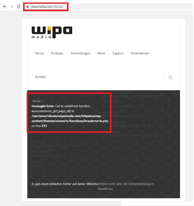 wipamedia clients error