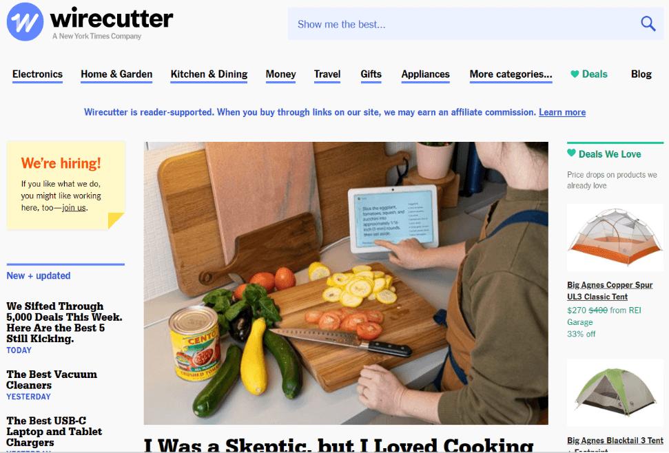 wirecutter beispiel für blog