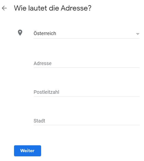 gmb adresse standort