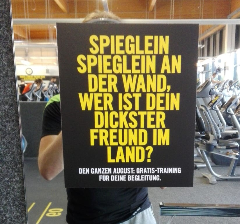 fitness werbetext aktion