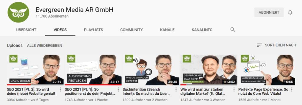 Youtube als Kanal für Thought Leader nutzen